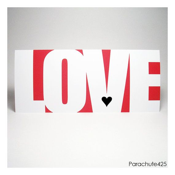 LOVE Greeting Card from Parachute425