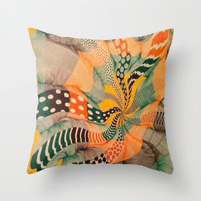 hypnotic color wave Throw Pillow by Dima David Goss - $20.00