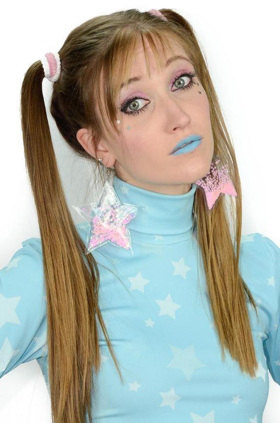 , Liquid Glitter Earrings – Star – Bubblegum, My Pop Star Kda Blog, My Pop Star Kda Blog