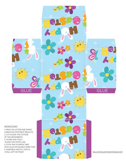 Free printable make your own easter gift box diy easter free printable make your own easter gift box diy negle Image collections
