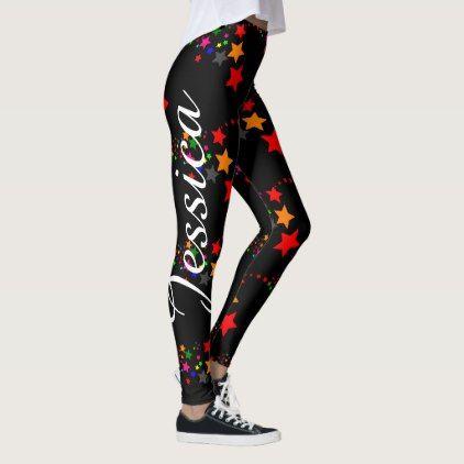 leggings choose your color name custom yoga pants  zazzle