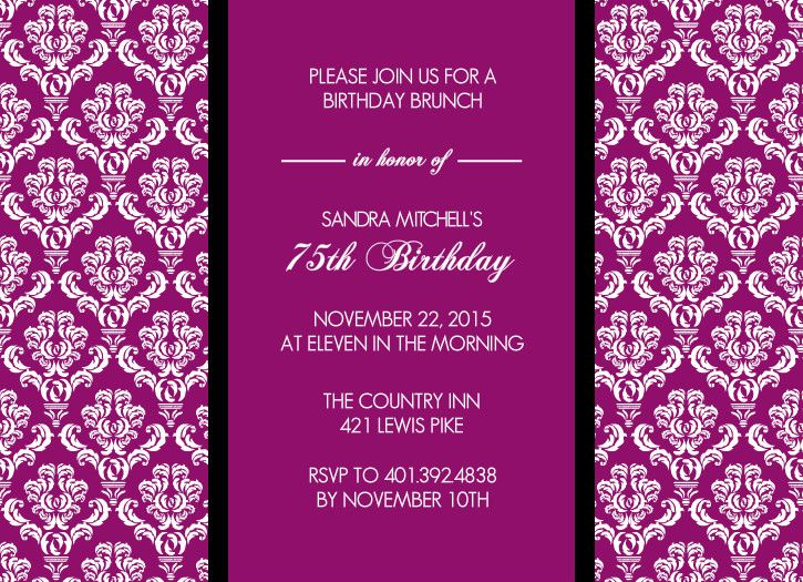 Magenta texture 75th birthday invitation by purpletrail my magenta texture 75th birthday invitation by purpletrail bookmarktalkfo Images