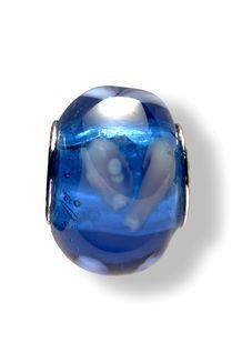 Glass Beads (Dark Blue/White Swirls)