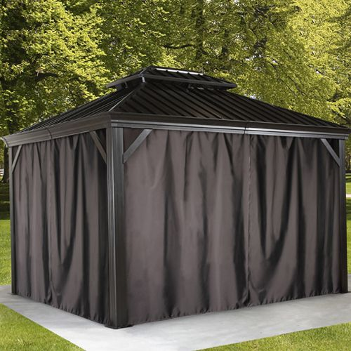 Mocha Provence Hard Top Gazebos By Sojag Gazebo Privacy Gazebo 10x12 Gazebo