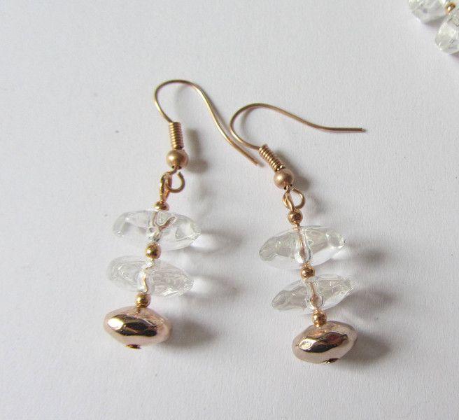 Kristall-Ohrhänger rosegold von soschoen auf DaWanda.com