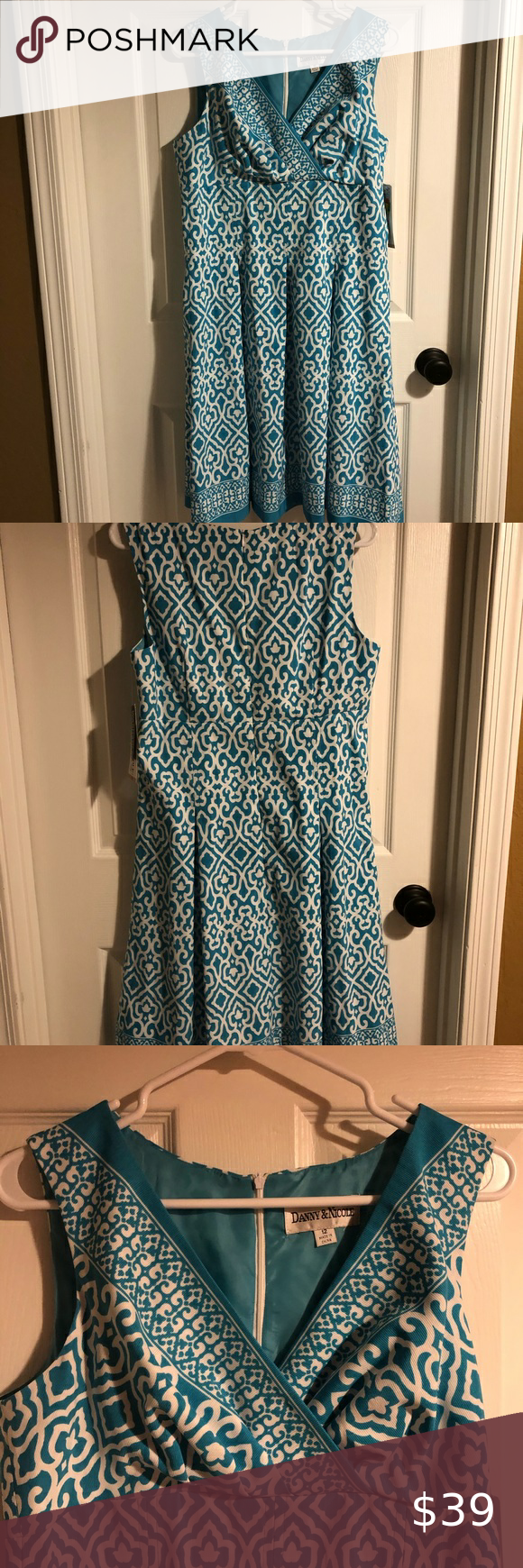 Danny And Nicole Size 12 Summer Dress Summer Dresses Clothes Design Size 12 [ 1740 x 580 Pixel ]