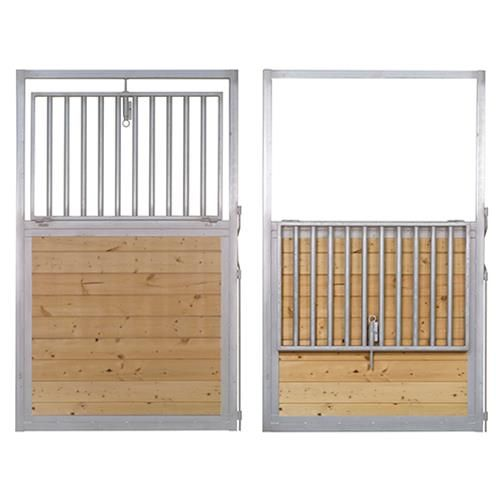 Drop down steel horse stall door available online at barn for Horse stall door plans