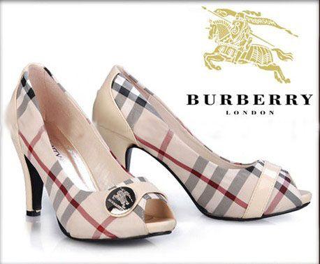 Burberry women shoes Check White