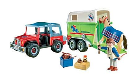 Playmobil Jeep And Horse Trailer