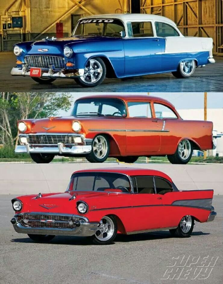 Chevy Tri Five Favorites 55, 56, 57 Classic cars