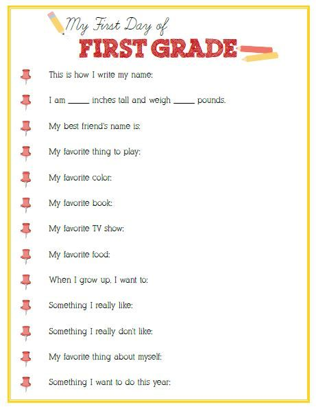 1000+ images about First Grade on Pinterest - physical assessment form