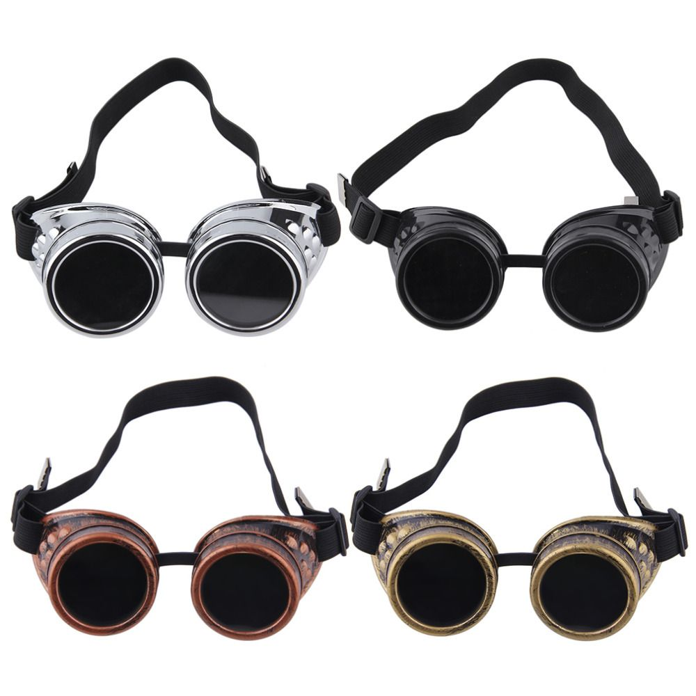 Vintage Victorian Steampunk Goggle Glasses Weld Cyber Punk Gothic Pilot Cosplay