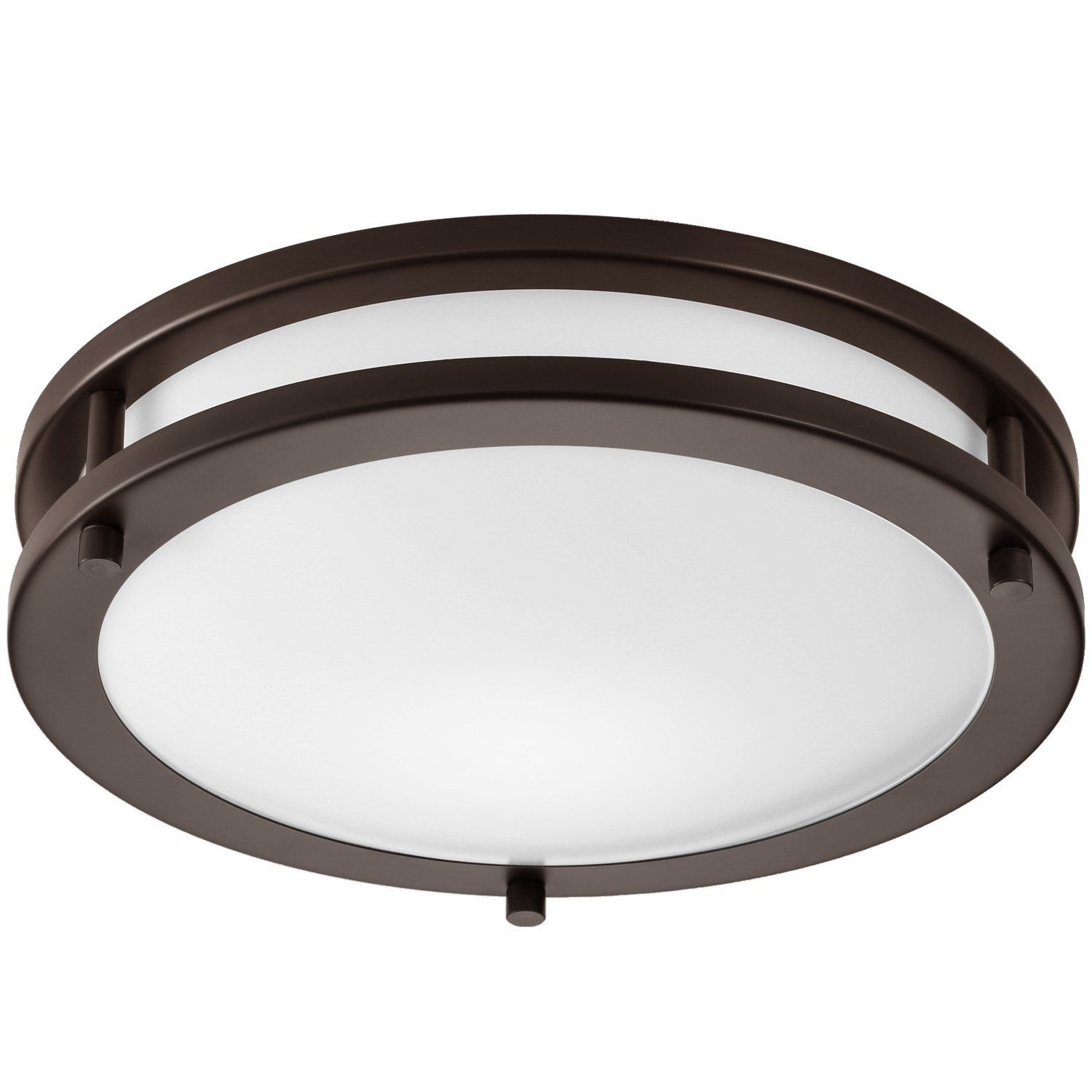Getinlight Led Flush Mount Ceiling Light 12 Inch 15w 75w Equivalent Bronze Finish 4000k Bright W Flush Mount Ceiling Lights Ceiling Lights Led Flush Mount