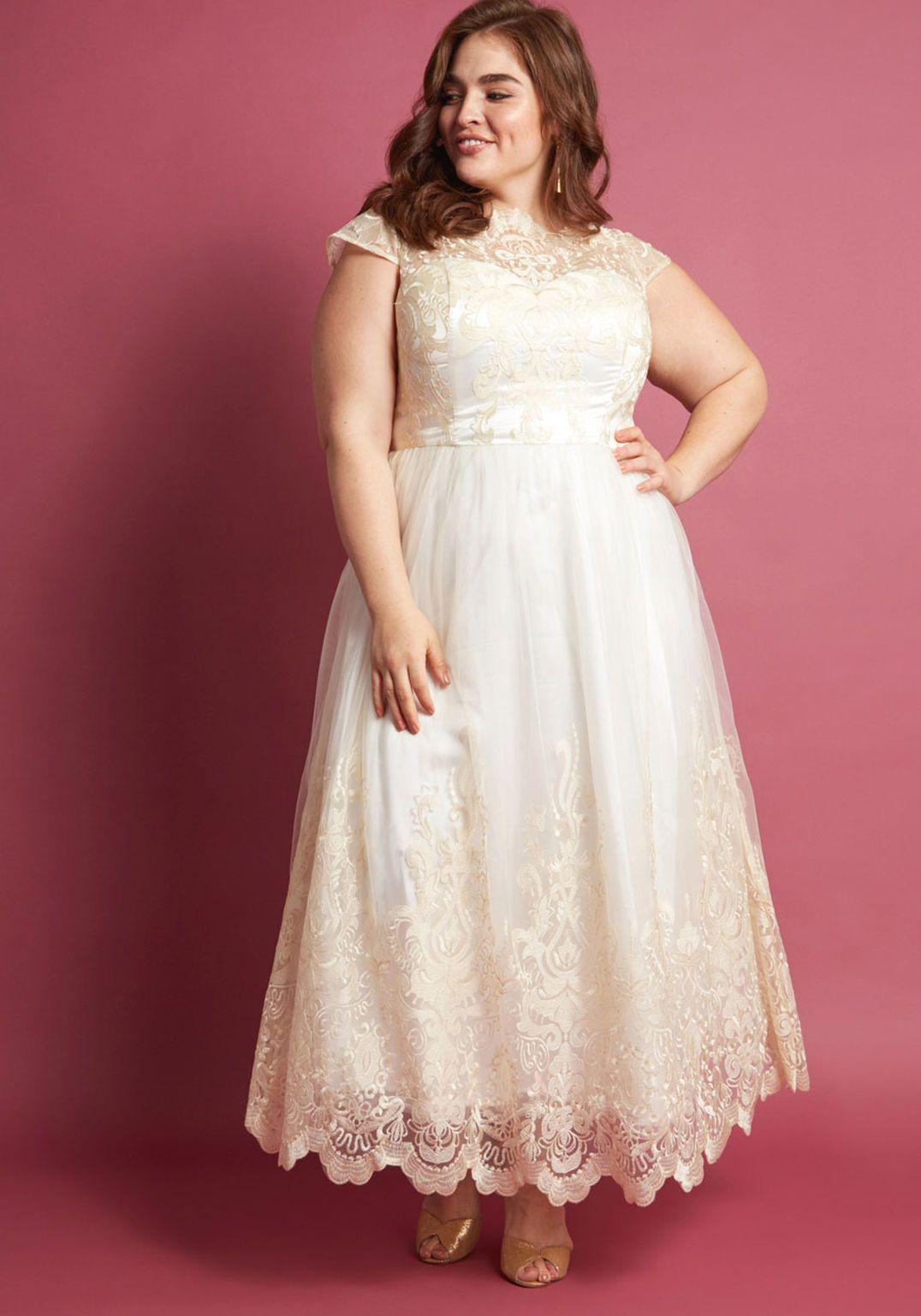 70bb9d4bb54 Chi Chi London Sparkling Celebration Maxi Dress in Ivory
