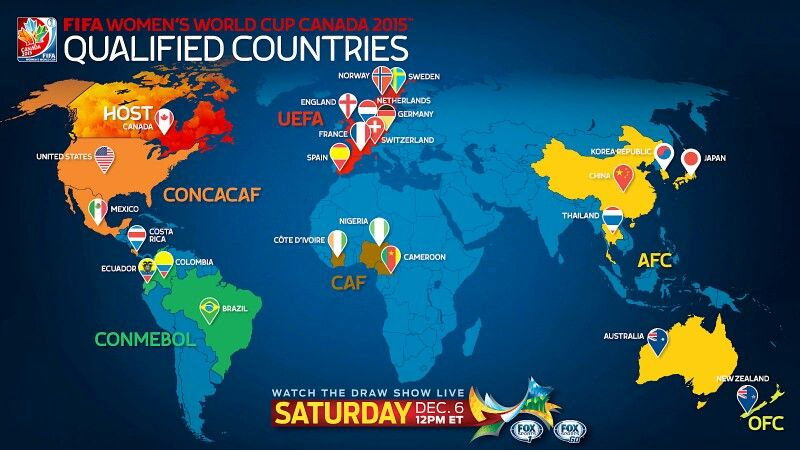 Teams locations Women's world cup, World cup, Fifa women