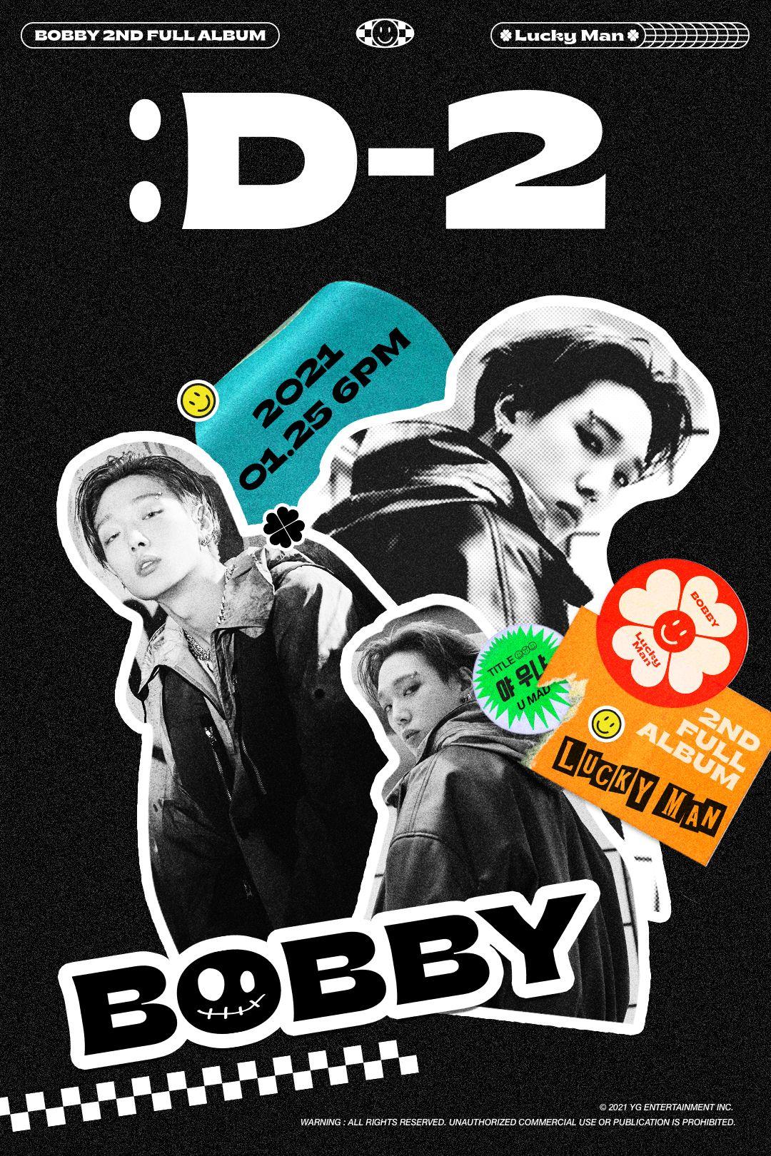Lucky Man Album Kpop Journal Stickers BOBBY