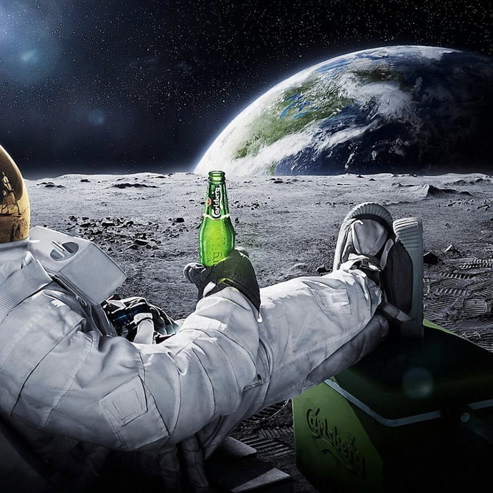 #chillin #moon #everywhere #earth #tgif #beer #astronaut #relax - great view <3