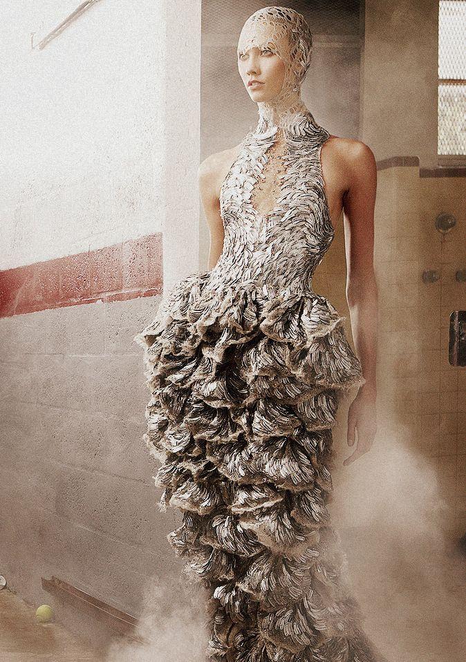 Karlie Kloss in Alexander McQueen Spring/Summer 2012 for Vogue US June 2012