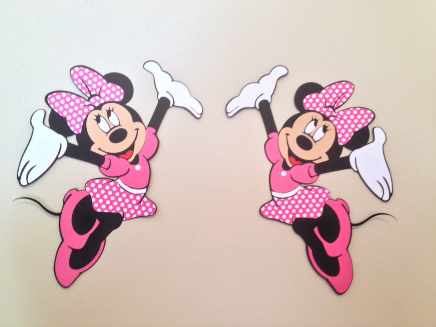 Minnie Mouse Wall Die Cuts Minnie Mouse Birthday Decorations Minnie
