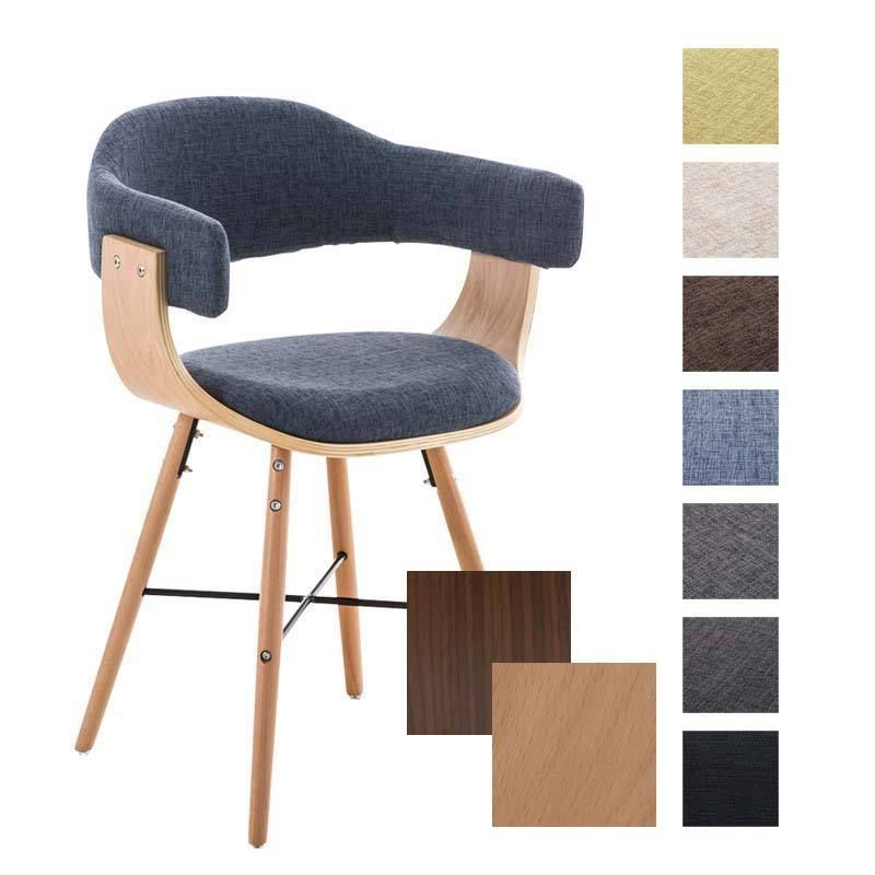 Chair BARRIE V2 Tweed Conference Dining Waiting Room Wooden Office ...