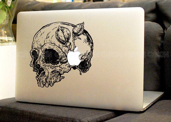 Skull decal macbook macbook decal pro air sticker handmade skin partial protector macbook decal macbook pro sticker13129