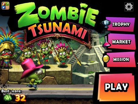 Play Zombie Tsunami Game Online Zombie Tsunami Tsunami Games - Minecraft tsunami spiele