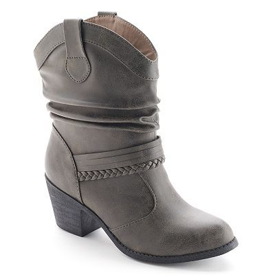 SO® Women's Slouch Cowboy Boots