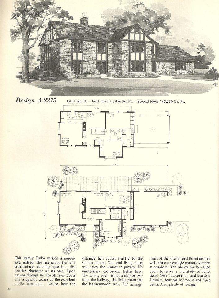 Vintage House Plans 2275 Vintage House Plans House Plans Vintage House