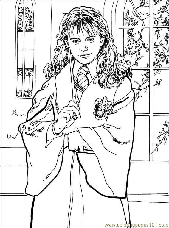 Hermione Granger Harry Potter Coloring Page Coloriage Harry