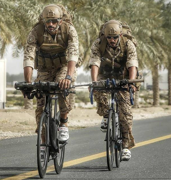 What the? Army forces spotted riding Cervelo Time Trial & road bikes into battle... At least they're going to be fast!