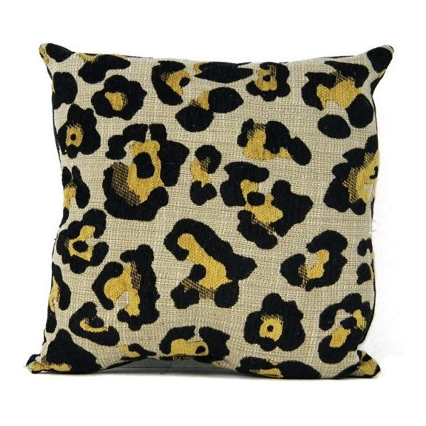 Decorative Cheetah Print Black Vegan Leather Pillow ($25) ❤ liked on Polyvore featuring home, home decor, throw pillows, black throw pillows, faux leather throw pillows, black toss pillows, black accent pillows and black home decor