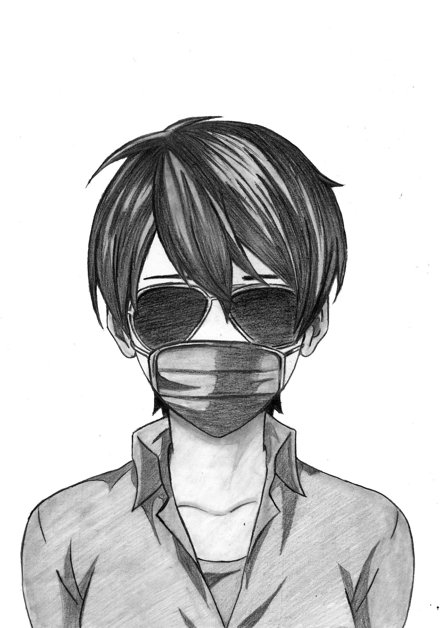Draw Anime Boy With Mask Realistic Anime Drawing Anime Drawings Anime Drawings Boy Anime Drawings Tutorials