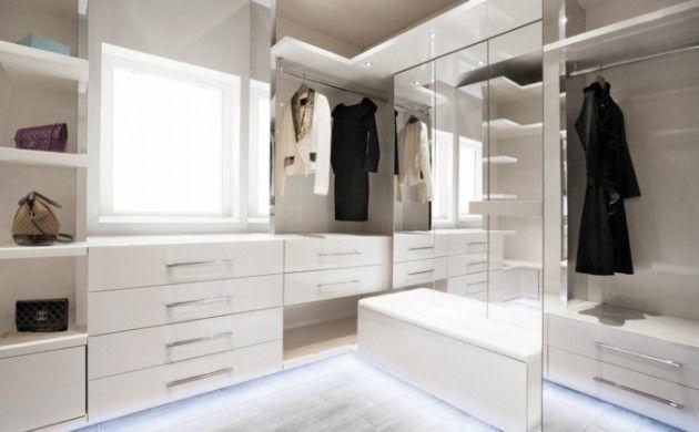 Ankleidezimmer Schrank ~ Kleiderschrank design ankleidezimmer einrichten spiegel sitzbank