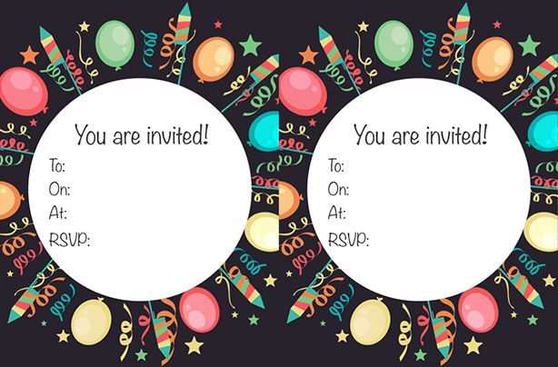 free birthday party invitations printable koni polycode co