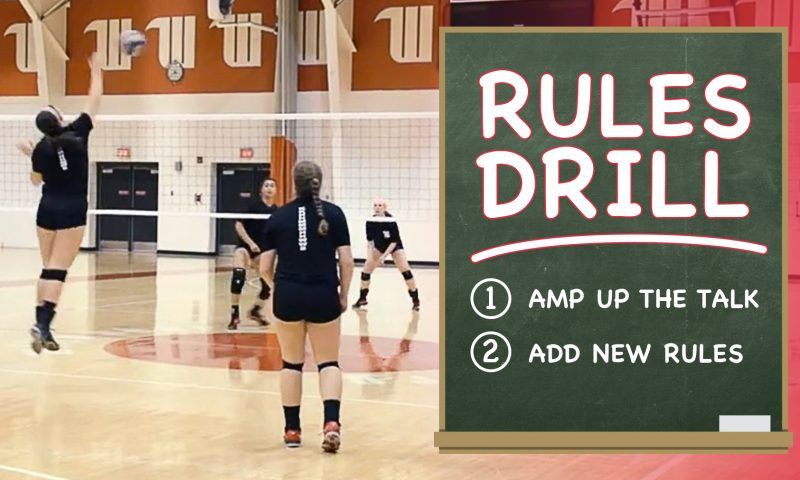 Reaction time training drill Coaching volleyball
