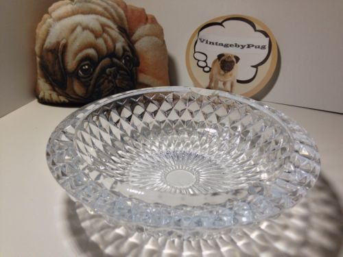 Vintage Cut Crystal Sunburst Pattern Ashtray *NO RESERVE""