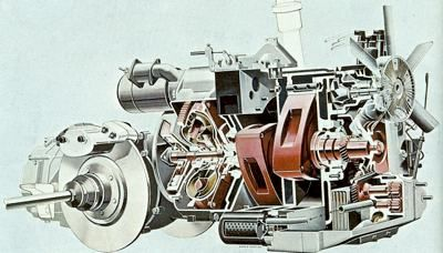 2-Rotor Wankel engine which powered the Ro80 | rotary engine