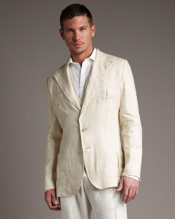 Latest Coat Pant Designs Beige Casual Linen Custom Wedding Suits ...