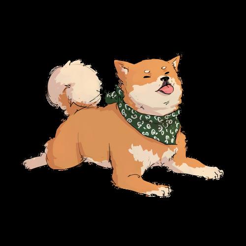 Tiny Doggo Shiba Inu Tan Sticker By Amiette White 3 X3 Cute Animal Drawings Kawaii Cute Animal Drawings Cute Doodles