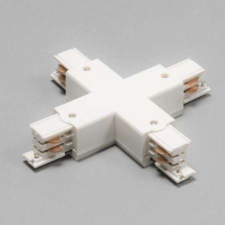 x verbindungsst ck f r 3 phasen schienensystem wei seil. Black Bedroom Furniture Sets. Home Design Ideas
