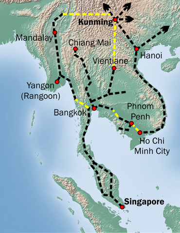 Map Of Singapore And China : singapore, china, China, Building, Extensive, Global, Commercial-military, Empire, History, Kunming,, Southeast, Asia,