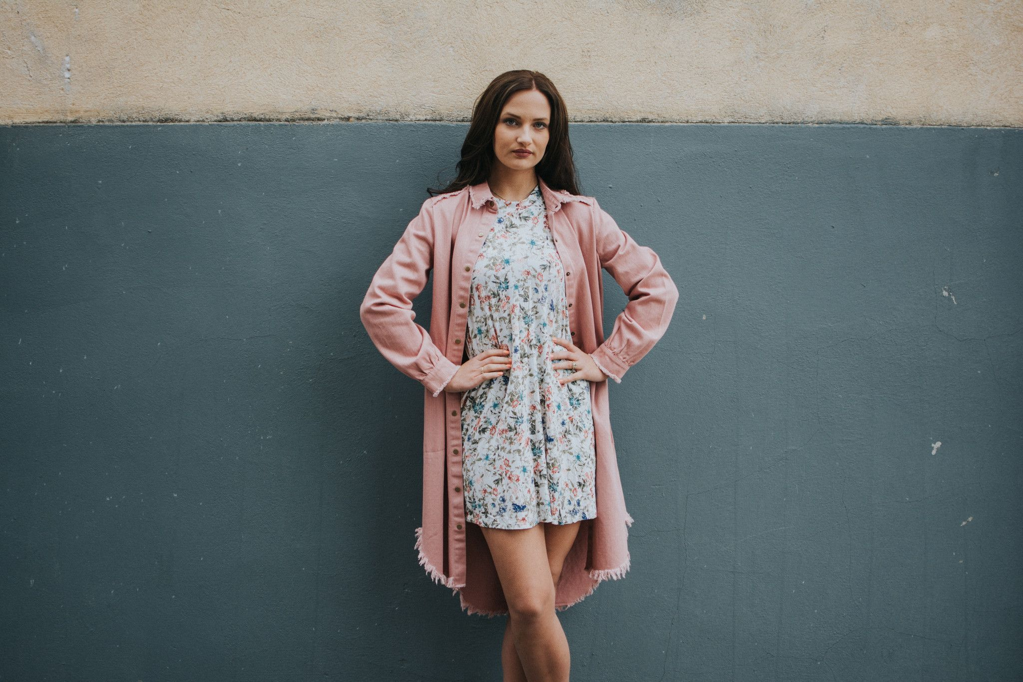 Blush duster jacket