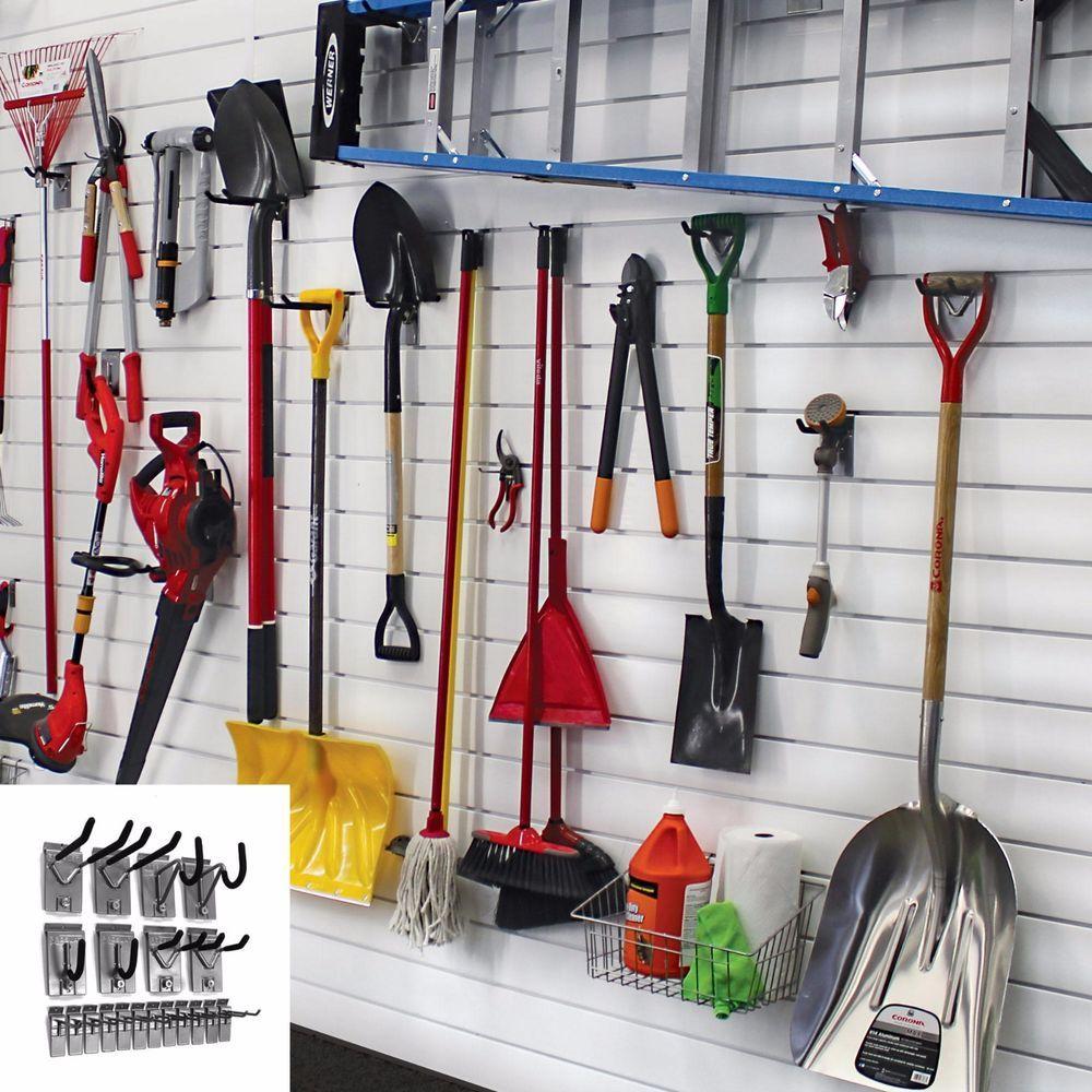 Slate Wall Panels Garage Man Cave Ideas Garage Storage: Garage Wall Organizer Storage System Garden Tools Hangers