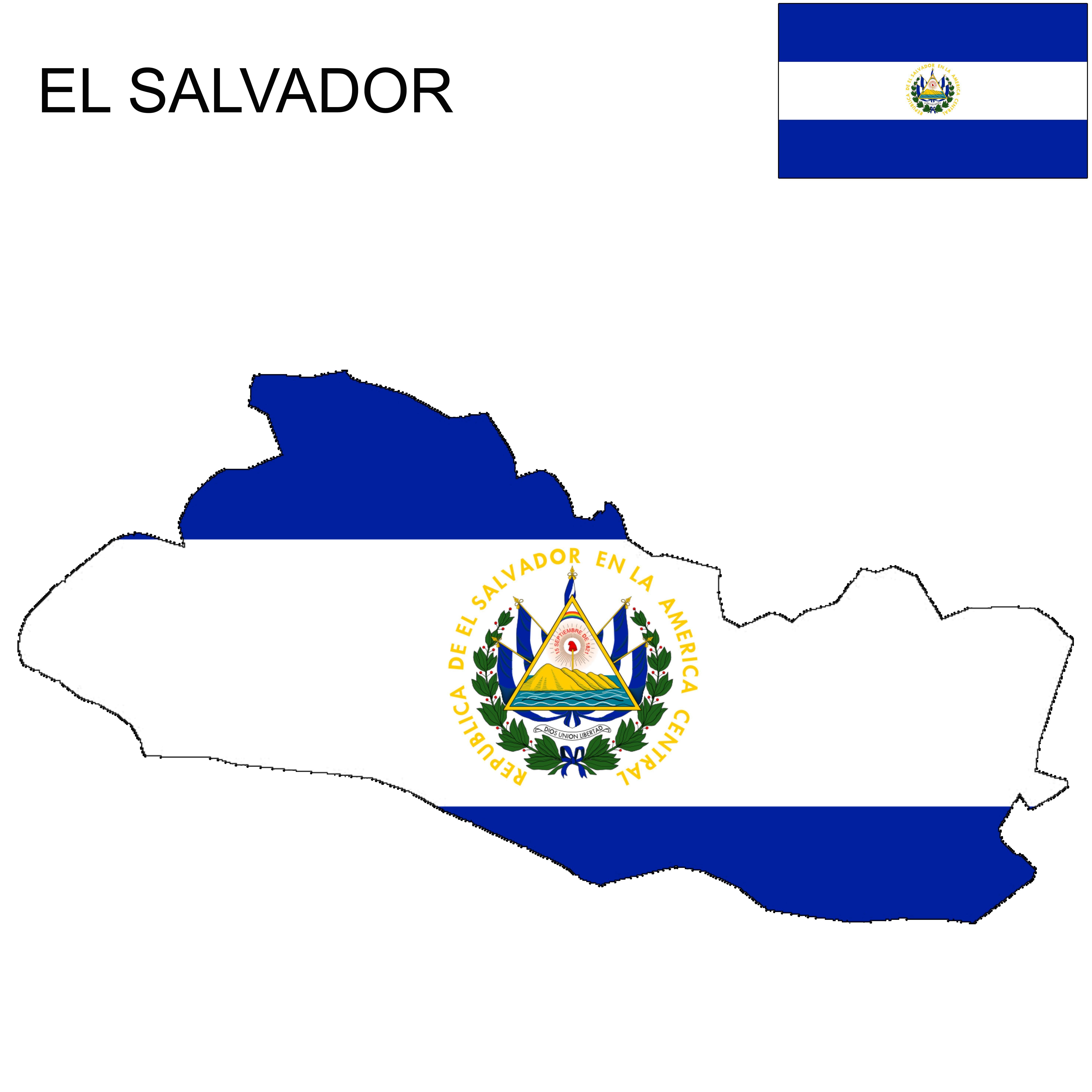 El Salvador Flag Map El Salvador Flag El Salvador Salvador