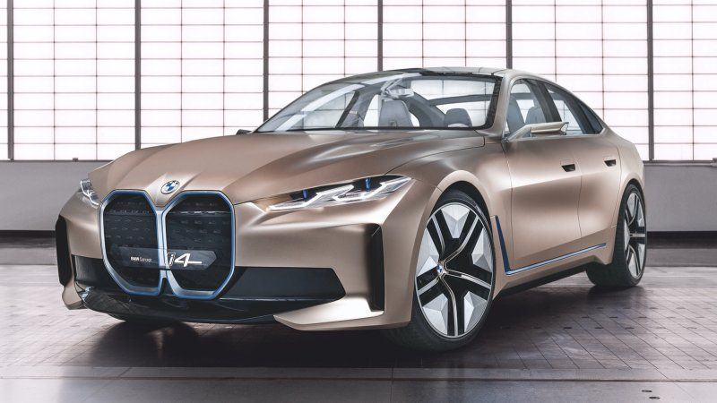 Bmw I4 Concept In 2020 Bmw Concept Bmw Electric Car Concept