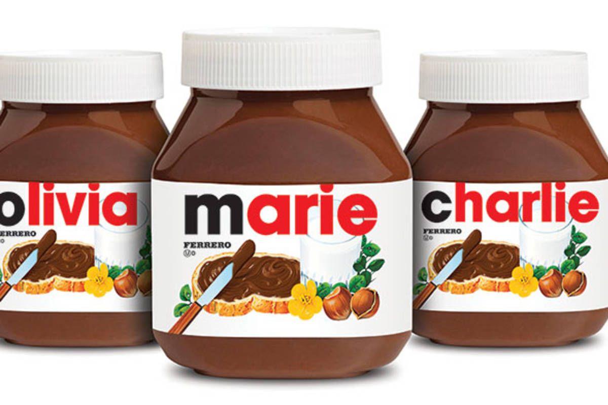 Customized Nutella Toronto Nutella Label Nutella Nutella Jar