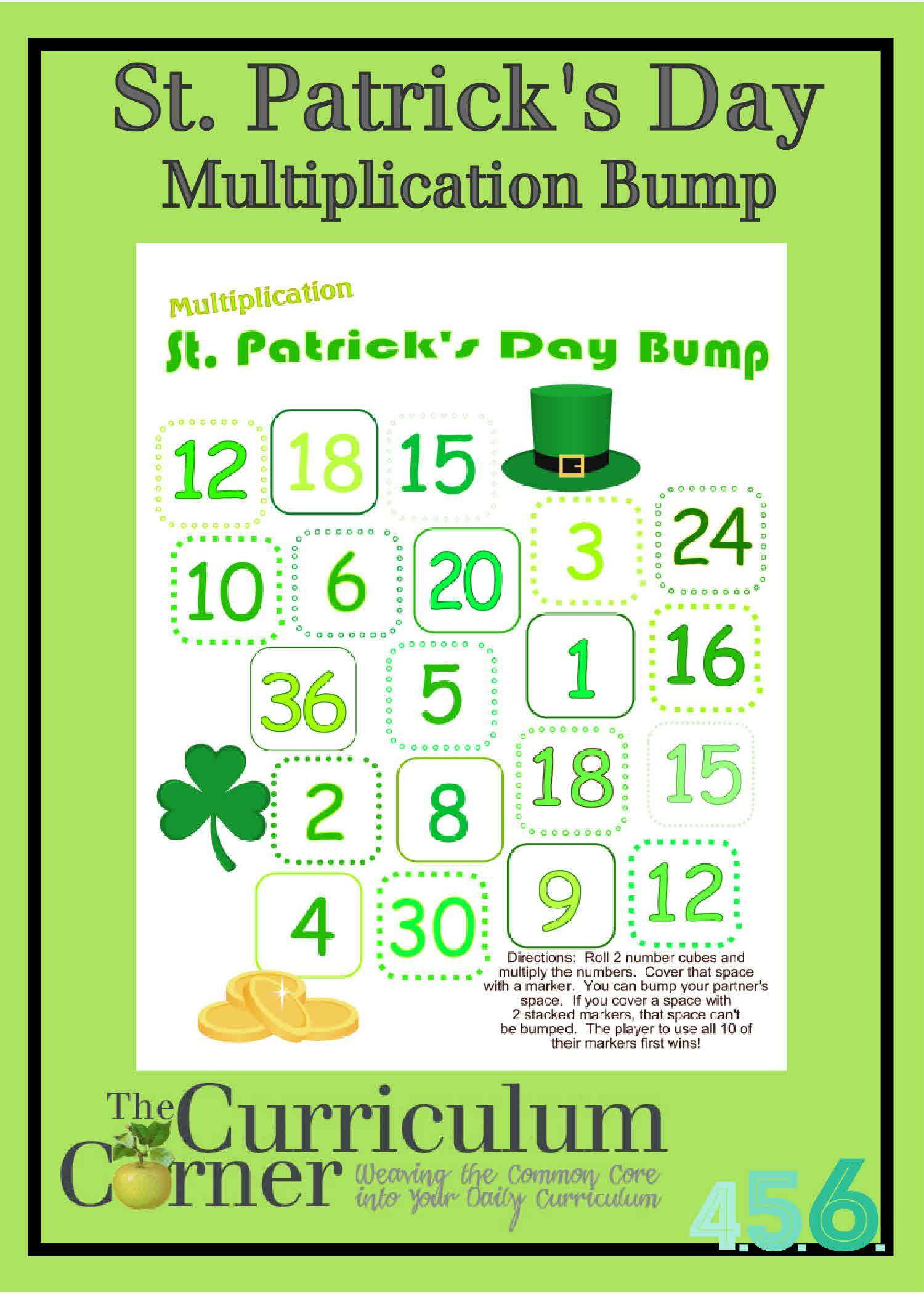 St Patrick S Day Multiplication Bump