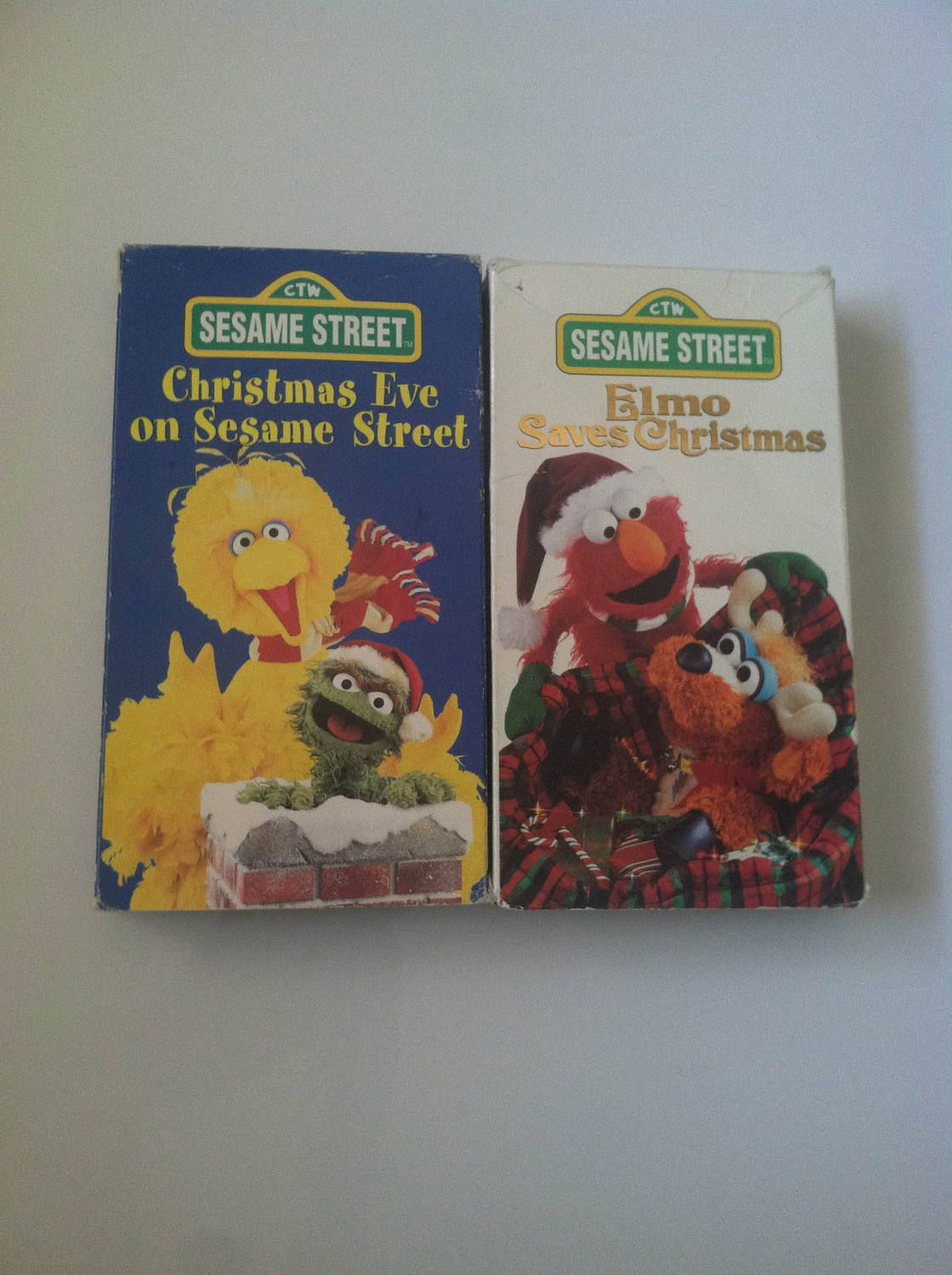 lot of 2 christmas eve on sesame street elmo saves christmas vhs 1997 by msstreeturchin on etsy - Sesame Street Elmo Saves Christmas