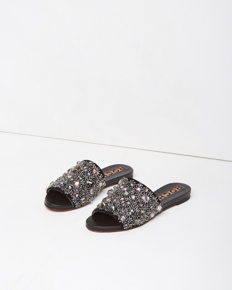 f21ee9ad90f Rochas Crystal Slide in Black