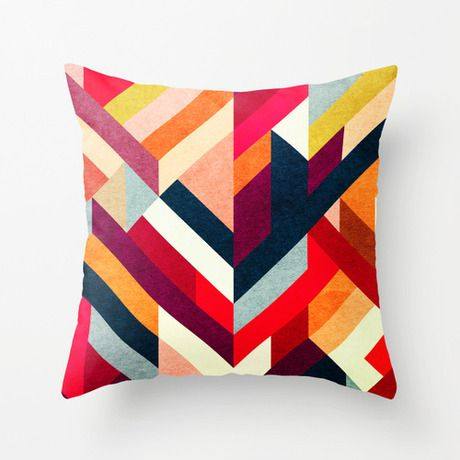 Right Angles Pillow Cover In Red Colorful Throw Pillows Pillow Design Pillows
